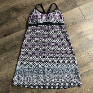 Athleta Shorebreak Purple Gray Dress